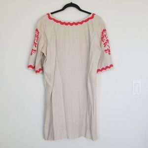 Dresses - Mexican Embroidered Linen Dress